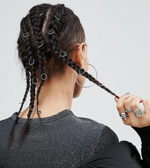 Asos - Gedrehte Haarringe Im 20er-set - Silber