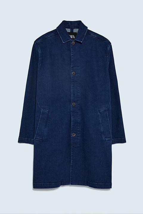 Abrigo Denim de Zara en 21 Buttons