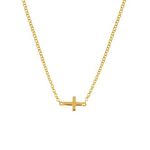 Colgante Cruz Simple Plata Recubierta Oro de Aristocrazy en 21 Buttons