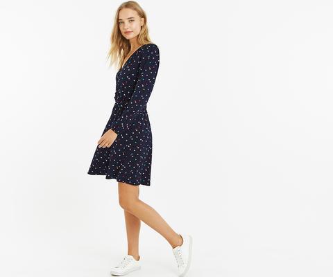 Star Button Skater Dress