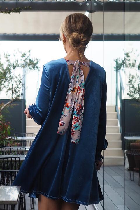 Vestido Velvet Azul de An & Be en 21 Buttons