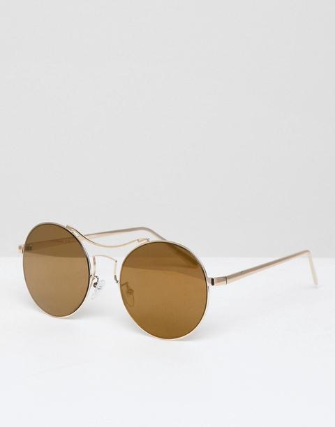 Aj Morgan - Occhiali Da Sole Oro Tondi - Oro