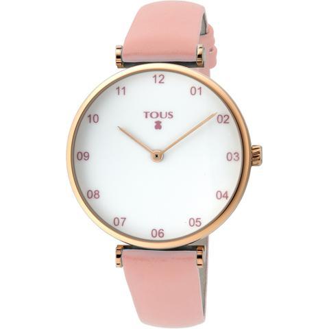 Reloj Camille De Acero Ip Rosado Con Correa De Piel Rosa de Tous en 21 Buttons