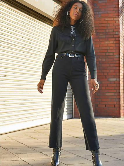 Ribcage Straight Ankle Jeans Negro / Black Heart de Levi's en 21 Buttons
