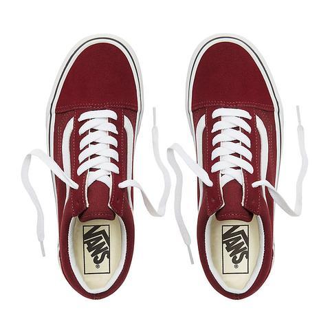 Vans Zapatillas Platform Old Skool (port Royale/true White) Mujer Rojo