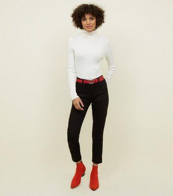 Sonderrabatt Luxus Top Qualität Jenna – Schwarze Skinny Jeans Mit Utility-flair from NEW LOOK on 21 Buttons