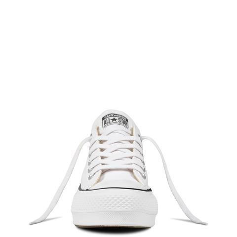 Converse Chuck Taylor All Star Platform Canvas Low Top White, Black