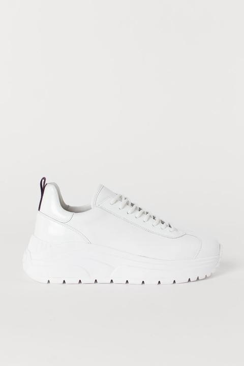 H & M - Sneakers In Pelle - Bianco de H&M en 21 Buttons