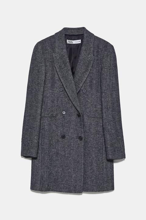 Abrigo Masculino Espiga de Zara en 21 Buttons
