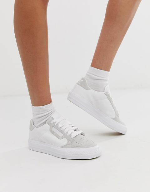 Zapatillas Blancas Continental 80 Vulc De Adidas Originals-blanco