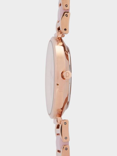 Reloj Pulsera Metálica Bicolor