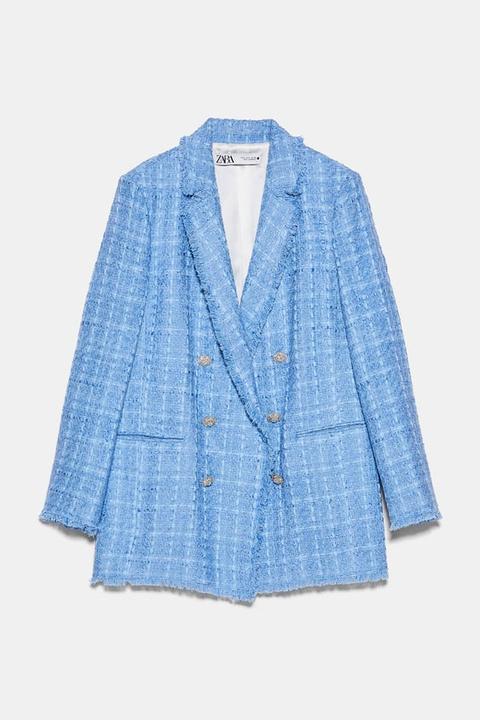 Blazer Tweed de Zara en 21 Buttons