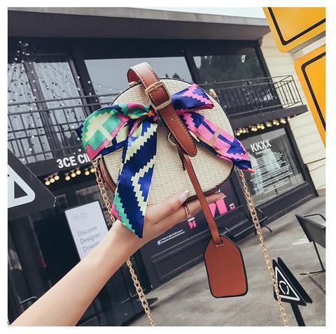 Borsa Colour Di Paglia Con Tracolla from Shop Low Cost on 21