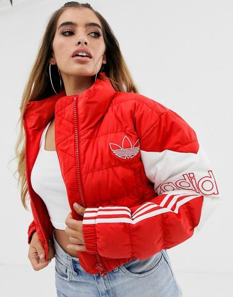 Plumífero Corto En Rojo De Adidas Originals de ASOS en 21 Buttons