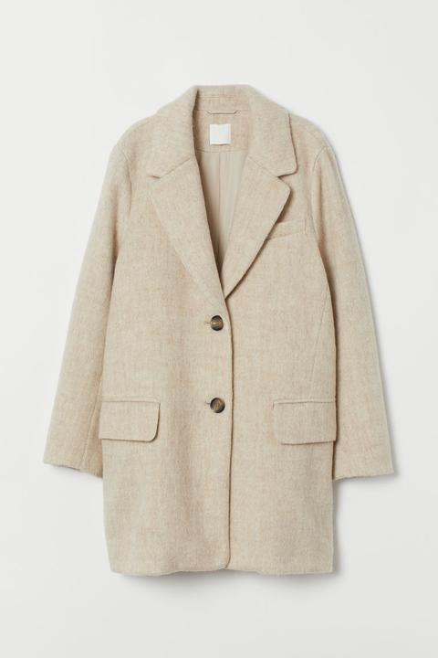 Abrigo Corto - Beis de H&M en 21 Buttons