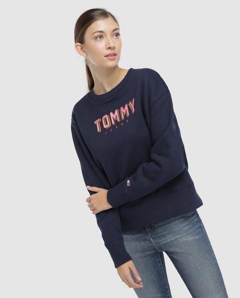 Tommy Jeans - Sudadera De Mujer Con Bordado Efecto 3d de El Corte Ingles en 21 Buttons