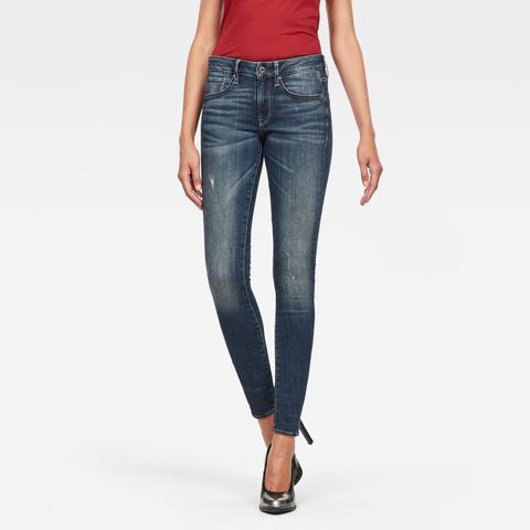 Jeans 3301 Mid Skinny de G-STAR en 21 Buttons