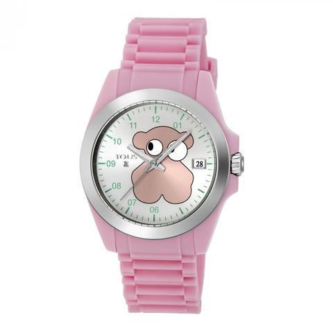 Reloj Drive Fun Face De Acero Con Correa De Silicona Rosa de Tous en 21 Buttons