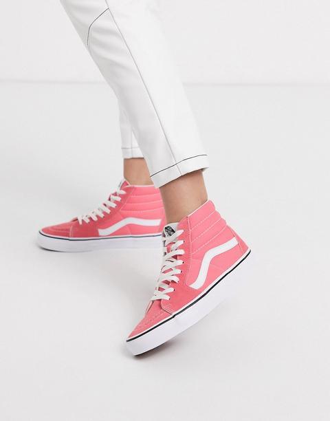 Vans Authentic - Sk8-hi - Chaussures Montantes - Fraise Écrasée/blanc Pur-rose