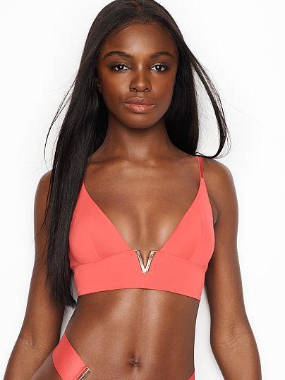 amp;m Hamp; Naranja M 21 Bikini En Buttons H Top De Bandeau AR45jL3