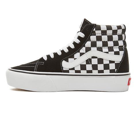 Vans Zapatillas Sk8-hi 2.0 Con Plataforma ((checkerboard) Black/white) Mujer Negro
