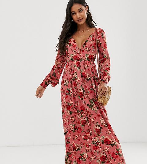 Vestido Largo Con Estampado Floral De Vila de ASOS en 21 Buttons