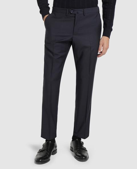 Emidio Tucci - Pantalón De Traje De La Colección Black De Hombre Slim Azul