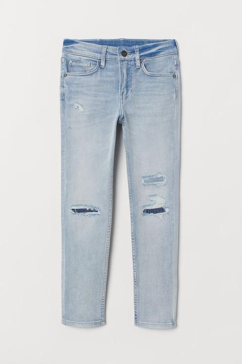 fréquent officiel de vente chaude sur des coups de pieds de H & M - Pantalon En Twill Slim Fit - Blanc from H&M on 21 ...