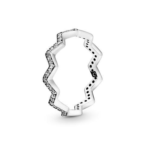 Anillo En Plata De Ley Zigzag Brillante de Pandora en 21 Buttons