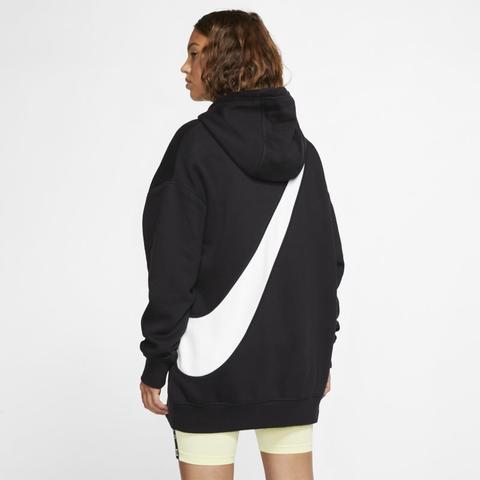 Nike Sportswear Swoosh Sudadera Con Capucha - Mujer - Negro