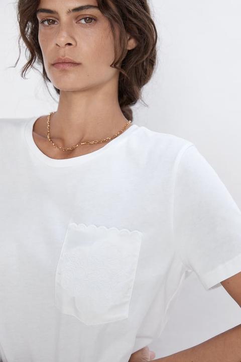 Camiseta Bolsillo Combinado