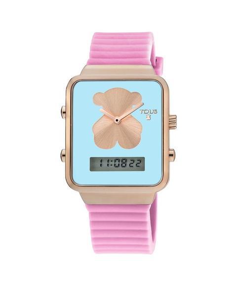 Tous - Reloj De Mujer I-bear Con Correa De Silicona Rosa Y Caja Rectangular Con Fondo Azul Turquesa de El Corte Ingles en 21 Buttons