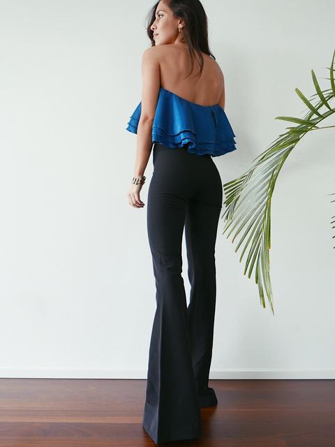 Pantalones Negros De Campana