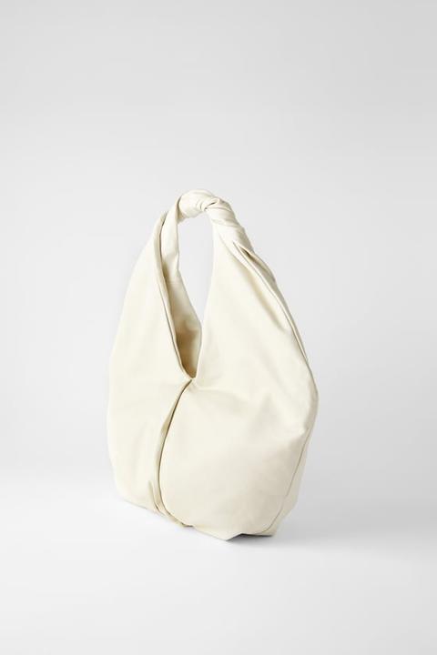 Bolso Shopper Piel Ovalado de Zara en 21 Buttons