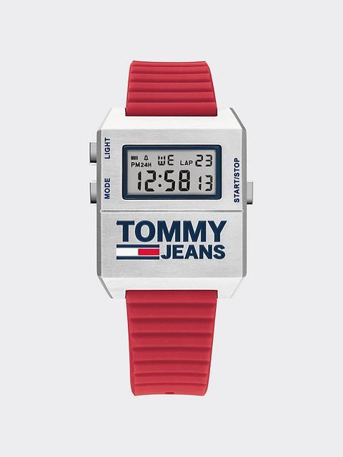 Reloj Digital Con Correa De Silicona Roja de Tommy Hilfiger en 21 Buttons