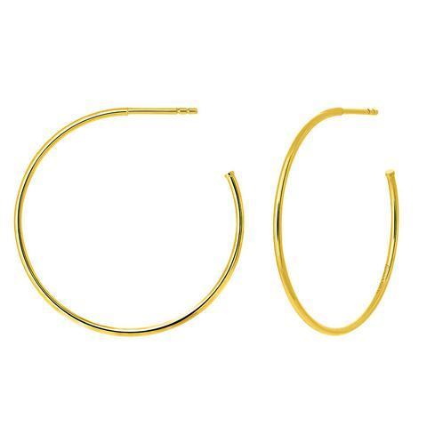 Pendientes Aro Grande Fino Plata Recubierta Oro Amarillo de Aristocrazy en 21 Buttons