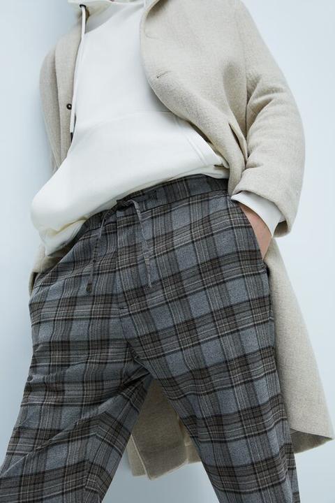 Pantalón Cuadros Cintura Jogger