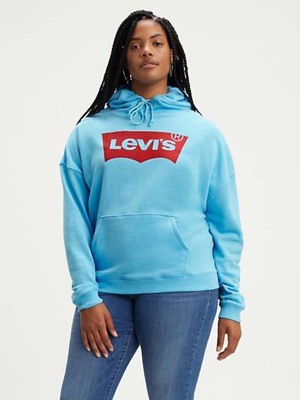 Graphic Hoodie (plus Size) Azul / Baltic Sea de Levi's en 21 Buttons
