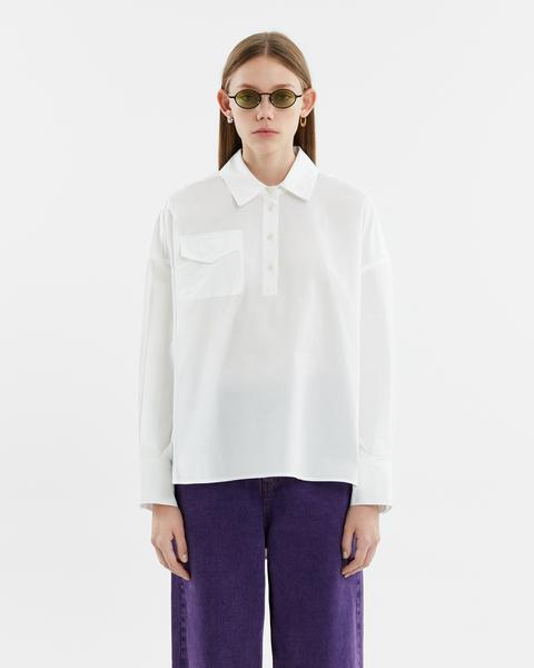 Camisa Oversize Blanca de Bimba Y Lola en 21 Buttons