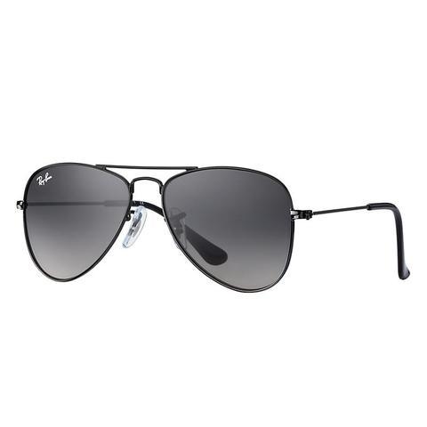Aviator Junior Unisex Sunglasses Lentes: Gris, Montura: Negro de Ray-Ban en 21 Buttons