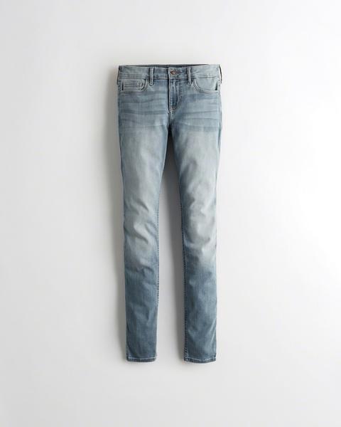 Chicas Jeans Superajustados Elásticos De Tiro Bajo Clásicos