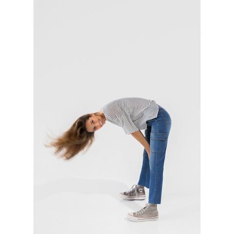 Jeans Cargo Flare Tejano de Noon en 21 Buttons