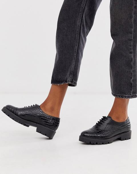 Zapatos Oxford De Cuero Con Cordones Florrie De Dune de ASOS en 21 Buttons