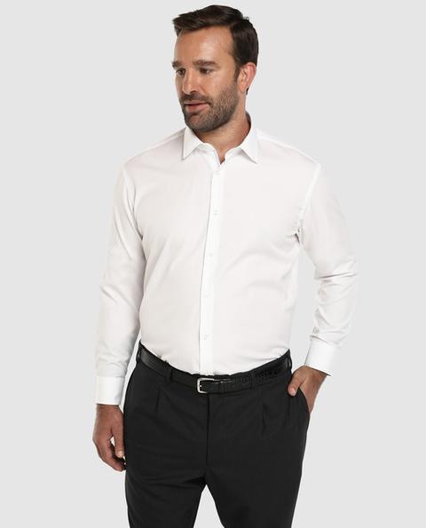 Boss Camisa De Hombre Regular Lisa Blanca Tallas Grandes From El Corte Ingles On 21 Buttons