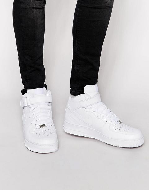 Nike - Air Force 1 Mid '07 315123-111 - Scarpe Da Ginnastica Bianche - Bianco de ASOS en 21 Buttons