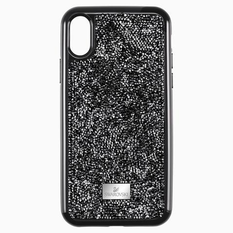 Funda Para Smartphone Con Protección Rígida Glam Rock, Iphone® Xr, Negro de Swarovski en 21 Buttons
