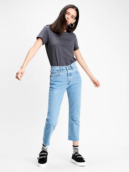 501® Crop Jeans Bleu / Tango Beats from Levi's on 21 Buttons