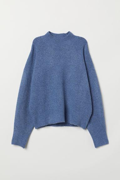 H & M - Jersey En Punto Fino - Azul