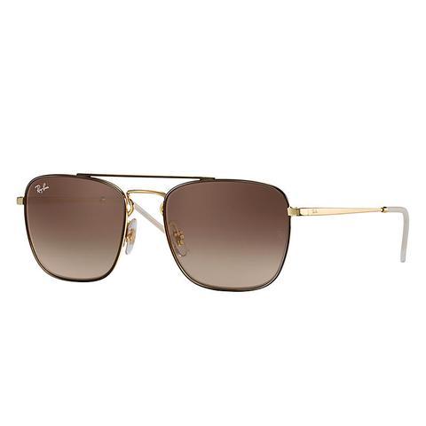Rb3588 Herren Sunglasses Gläser: Braun, Frame: Gold from Ray Ban on 21 Buttons