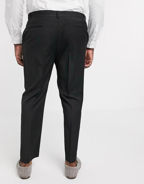 Asos Design Plus Slim Suit Trousers In Black